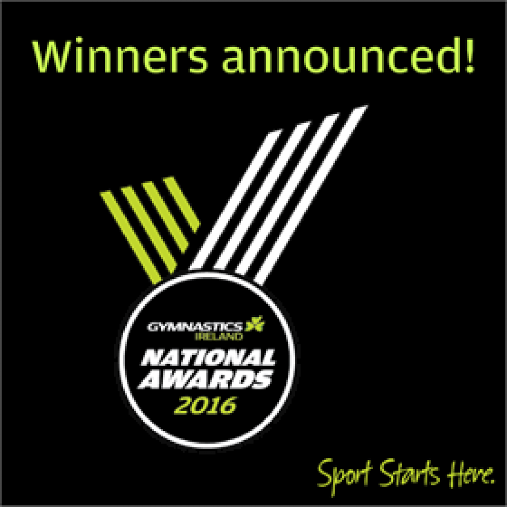 Gymnastics Ireland National Awards 2016 - Winners Announced