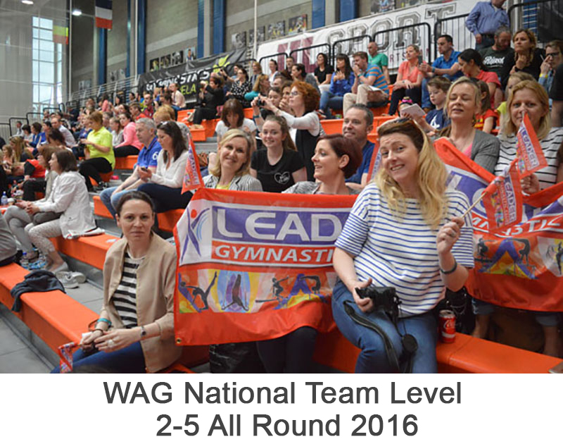 WAG National Team Level 2-5 All Round 2016