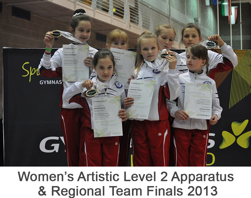 Women's Artistic Level 2 Apparatus & Regional Team Finals 2013